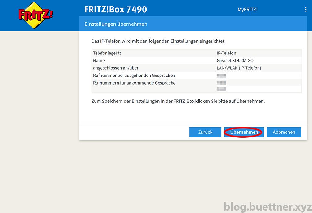 FRITZ!Box neues Telefoniegerät einrichten - Schritt 6