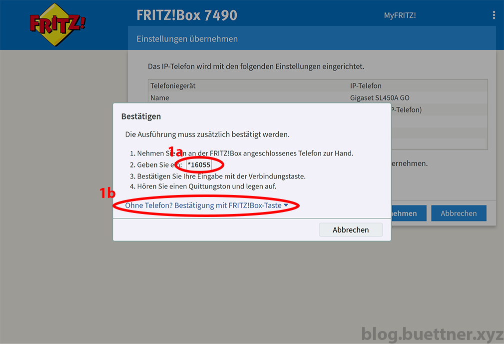 FRITZ!Box neues Telefoniegerät einrichten - Schritt 7