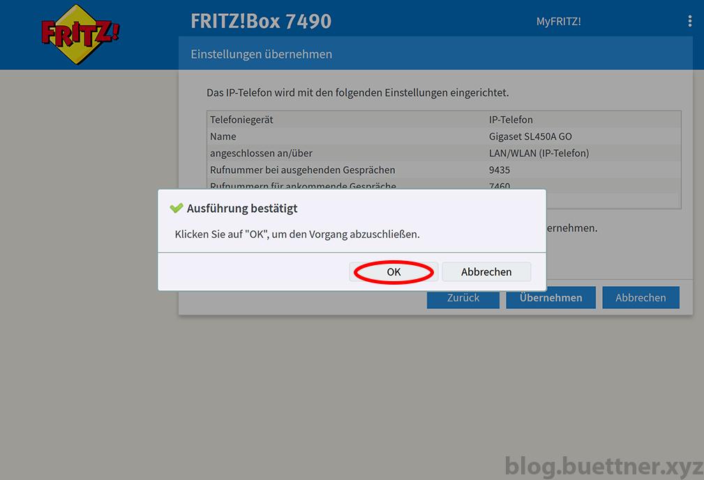 FRITZ!Box neues Telefoniegerät einrichten - Schritt 8