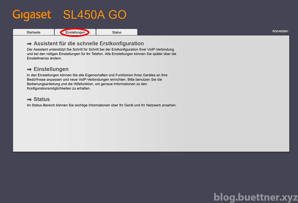 Gigaset GO Website - Hauptseite