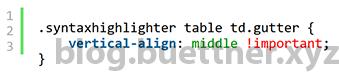 Textverschiebung im SyntaxHighlighter Evolved