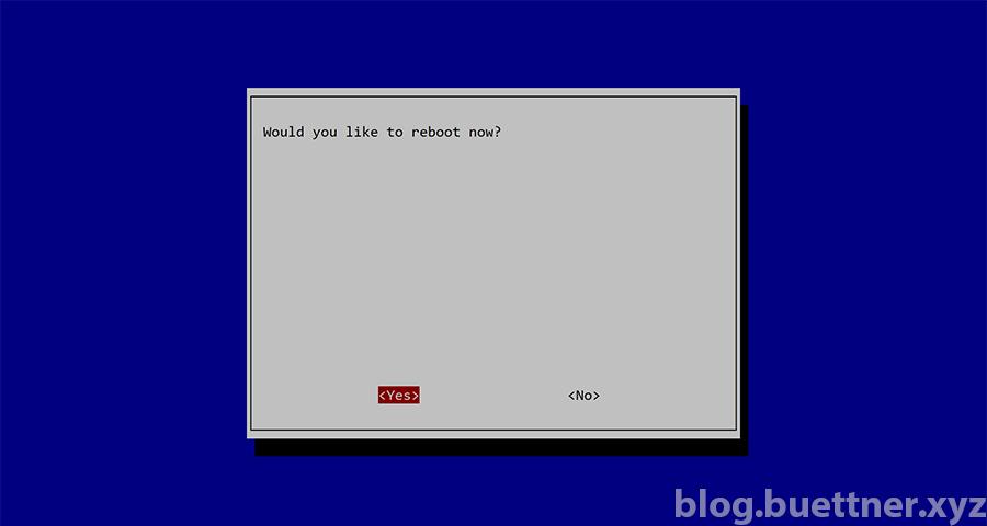 Neustart von Raspbian nach Konfigurationsänderung