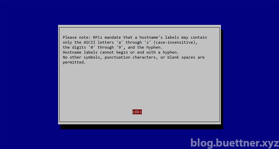 Raspbian Hostname ändern Hinweis