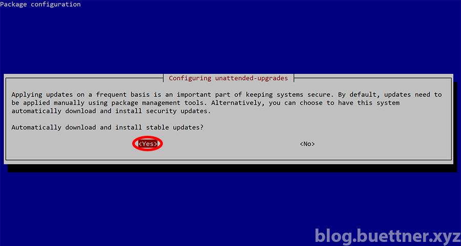 Unattended Upgrades bei Raspbian aktivieren