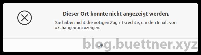 Virtualbox gemeinsame Ordner Zugriffsrechte Fehlermeldung